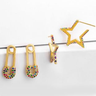 Simple and creative small fresh earrings NHAS131678's discount tags