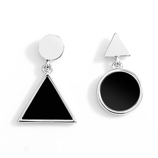 Stylish geometric gradient color personalized metal retro earrings NHLL131679's discount tags