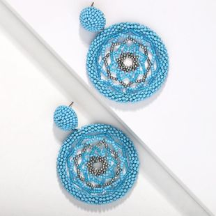 Fashion hand-woven ring polygon earrings NHJQ131683's discount tags
