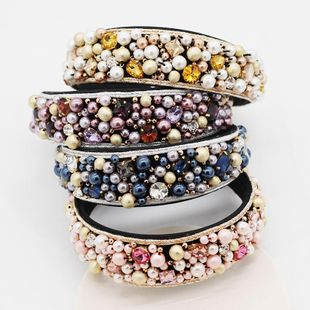 European and American Baroque hand-stitched beads geometric ornate dance headband NHWJ131684's discount tags