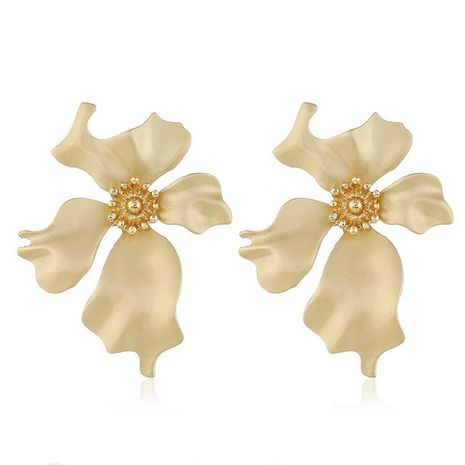 Womens Floral Plating Alloy Earrings NHVA131687's discount tags