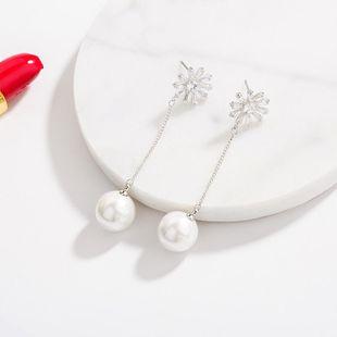 Fashion long super fairy sun flower earrings NHLL131690's discount tags
