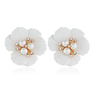 Vintage flowers simple wild beads alloy earrings NHVA131691's discount tags