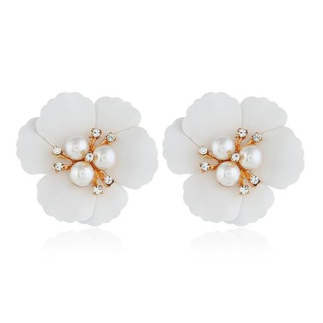 Vintage flowers simple wild beads alloy earrings NHVA131691's discount tags