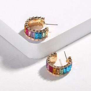 Womens Geometric Rhinestones Earrings NHJQ131707's discount tags