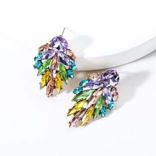 Temperament Acrylic Rhinestone Full Rhinestone Earrings NHJE131708's discount tags