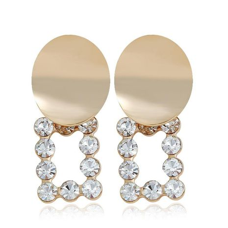 Fashion exaggerated alloy ring rhinestone earrings NHVA131710's discount tags