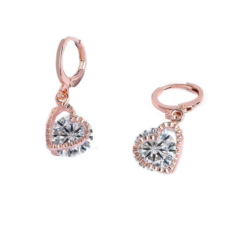Fashion creative simple love zircon copper earrings NHAS131712's discount tags