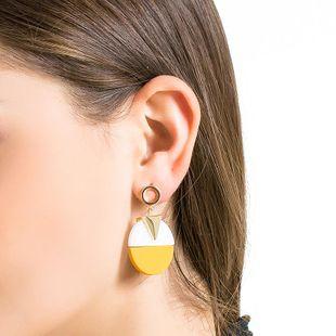 Long Super Fairy Asymmetric Alloy Earrings NHLL131718's discount tags