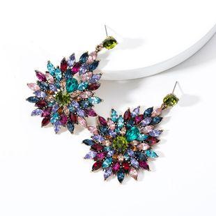 Fashion full rhinestone floral and rhinestone earrings NHJE131721's discount tags