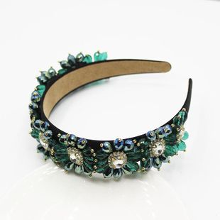 Palace retro style multicolor gemstone alloy wild headband NHWJ131722's discount tags