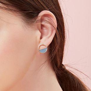 Joker short simple geometric round earrings NHLL131724's discount tags