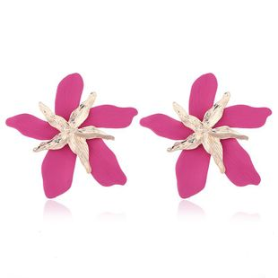 Fashion big flower alloy earrings NHVA131727's discount tags