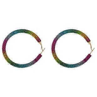 Temperament wild big circle circle rhinestone earrings NHJQ131729's discount tags