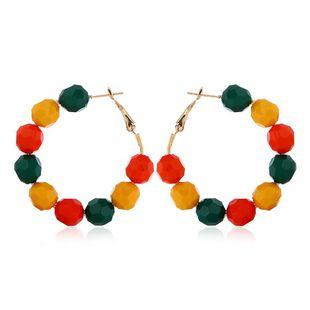 Korean temperament multicolor handmade beaded earrings NHVA131731's discount tags