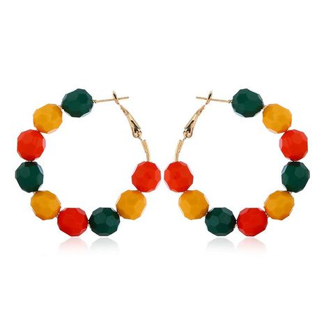 Korean temperament multicolor handmade beaded earrings NHVA131731's discount tags