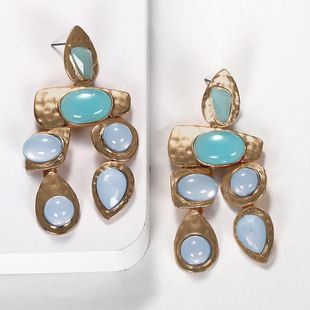 Exaggerated gemstones, wild irregular earrings NHJQ131735's discount tags
