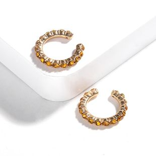 Exaggerated atmospheric alloy rhinestone C-shaped ear hook NHJQ131737's discount tags