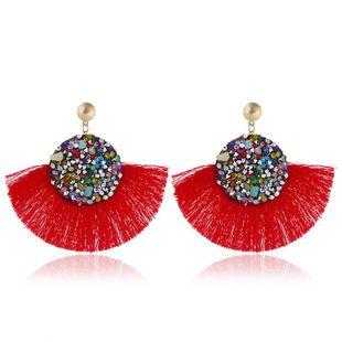 Fashion vintage tassel earrings alloy rhinestones exaggerated earrings NHVA131750's discount tags