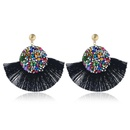 Fashion vintage tassel earrings alloy rhinestones exaggerated earrings NHVA131750