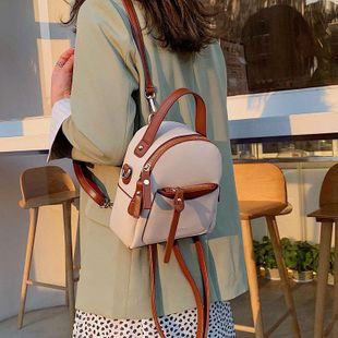 Fashion student backpack multicolor NHTC132010's discount tags