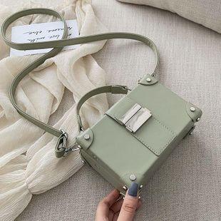 Fashion woman rivet box shape handbag shoulder bag multicolor NHTC132038's discount tags