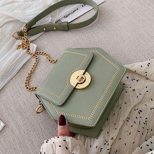 Fashion woman polygon messenger shoulder bag multicolor NHTC132151's discount tags