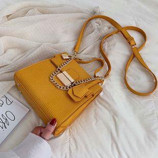 Fashion women stitching lizard pattern crossbody shoulder bag NHTC132186's discount tags