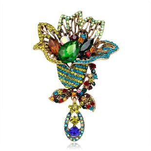 Korean version of the simple temperament imitated crystal brooch NHDR132259's discount tags