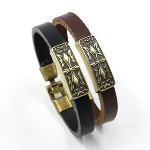 Fashion Cross Alloy Leather Bracelet NHHM132278's discount tags
