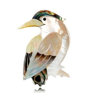 Retro simple shell series bird brooch NHDR132283's discount tags