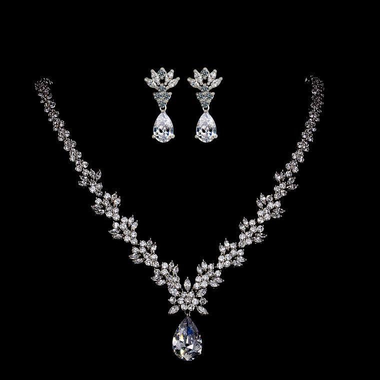 Fashion AAA Zircon Jewelry Set NHTM132290