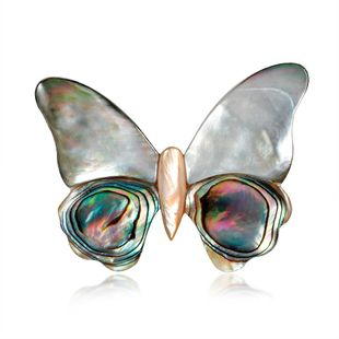 Vintage shell series butterfly brooch NHDR132305's discount tags