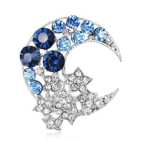 Fashion cute star moon alloy rhinestone brooch NHDR132314's discount tags