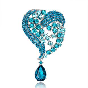 Fashion heart-shaped glass alloy brooch NHDR132318's discount tags