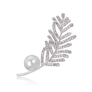 Fashion Beads Rhinestone Tree Leaf Alloy Brooch NHDR132319's discount tags
