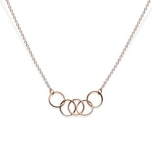 Ring-and-loop couple titanium steel necklace NHOK132323's discount tags