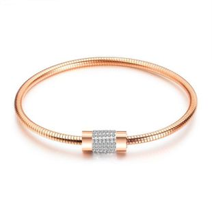 Womens geometrically plated titanium steel Bracelets & Bangles NHOP132330's discount tags