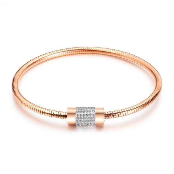 Womens geometrically plated titanium steel Bracelets & Bangles NHOP132330