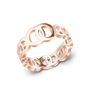Fashion rose alloy ring interlocking ring NHOK132341's discount tags