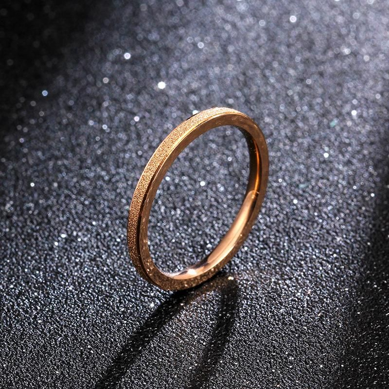 Simple and non-fading titanium steel color alloy matte ring NHIM132388
