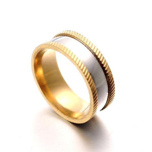 Fashion titanium steel embossed ring NHIM132393
