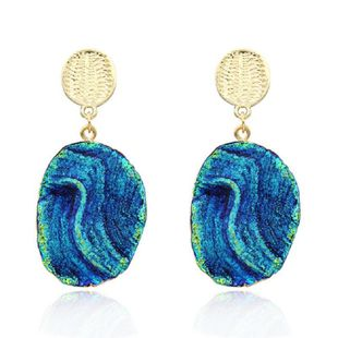 Fashion long imitation agate earrings NHGO132398's discount tags