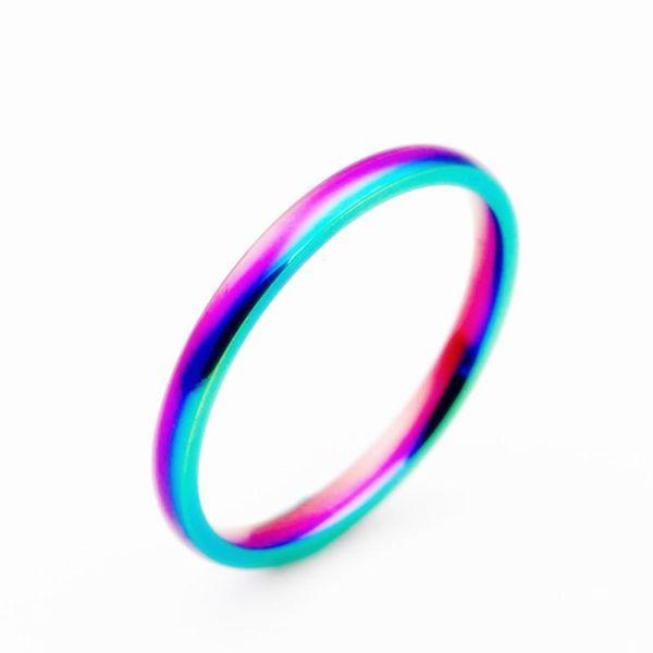 Fashion colorful glare titanium steel ring NHIM132408