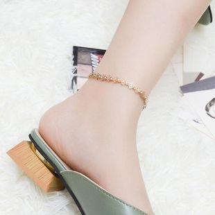 Fashion personality star heart hollow flower-shaped anklet bracelet NHOK132410's discount tags