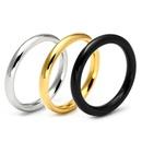 Simple and versatile glossy circle niche titanium steel ring NHIM132414