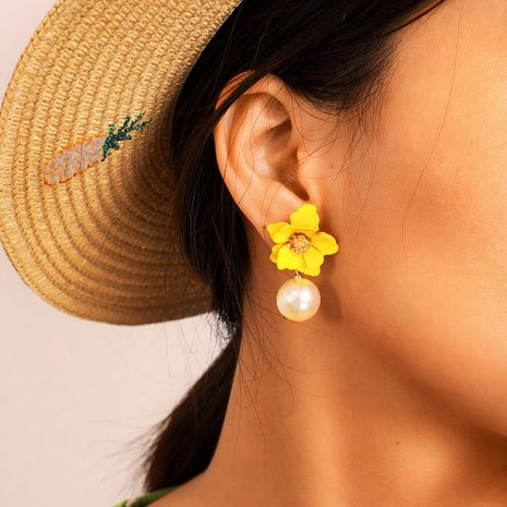 Stylish and simple versatile three-dimensional beads flower earrings NHGY132494's discount tags