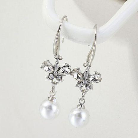 Long butterfly beads rhinestone earrings NHNZ132514's discount tags