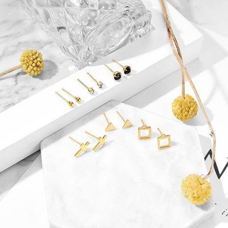 Fashion cross geometry alloy resin earrings set NHXS132531's discount tags