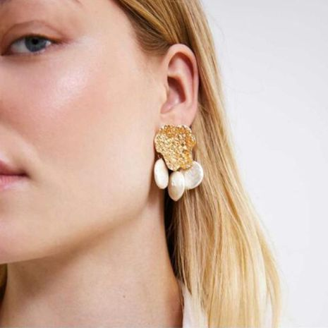 Unisex Irregular Inlay Beads Alloy Earrings NHPJ132536's discount tags